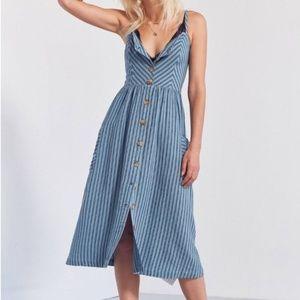 Large Cooperative UO Emilia Button Down Midi Dress